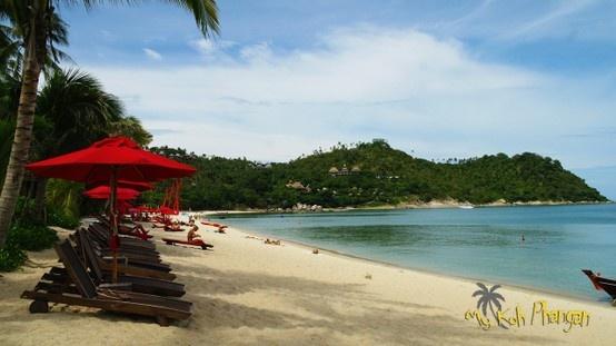 Beach in front of Anantara Rasananda in Thong Nai Pan on Koh Phangan, Thailand