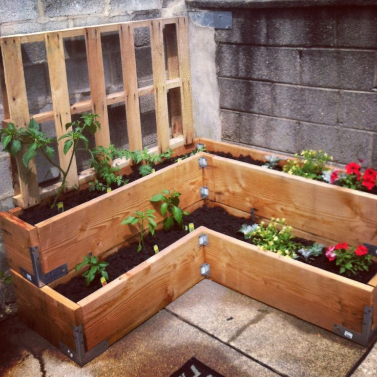 Urban Garden In The Making ::crate Idea, Small Space To Work With Idea