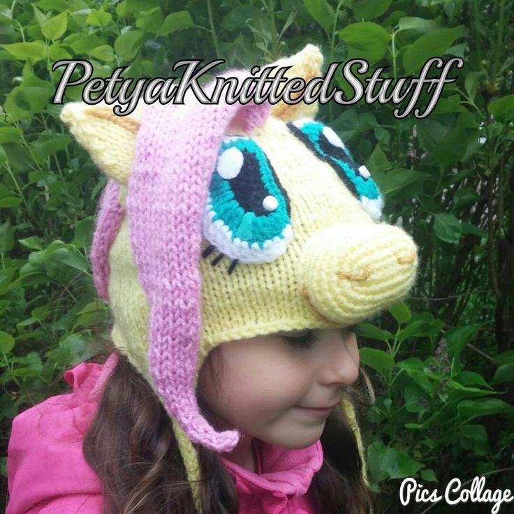 Fluttershy Hat , My Little Pony Hat by PetyaKnittedStuff on Etsy