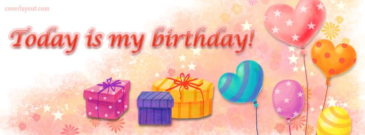 Today is my Birthday Facebook Cover CoverLayout.com