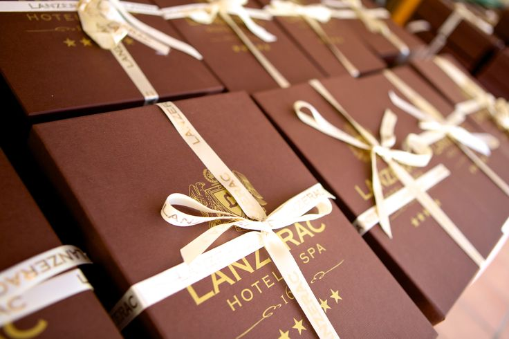 The gift boxes we gave to all our guests at the Lanzerac Ready to Run Stakes Launch