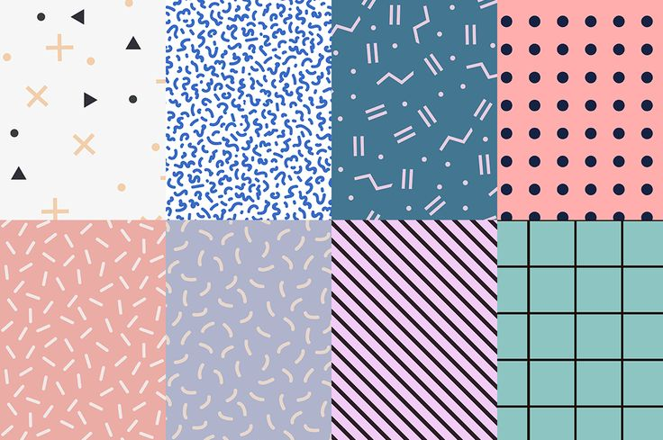 Black and white set memphis patterns by Fay_Francevna on @creativemarket