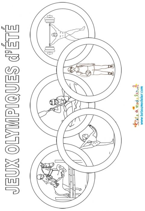coloriage anneaux olympiques - Google Search