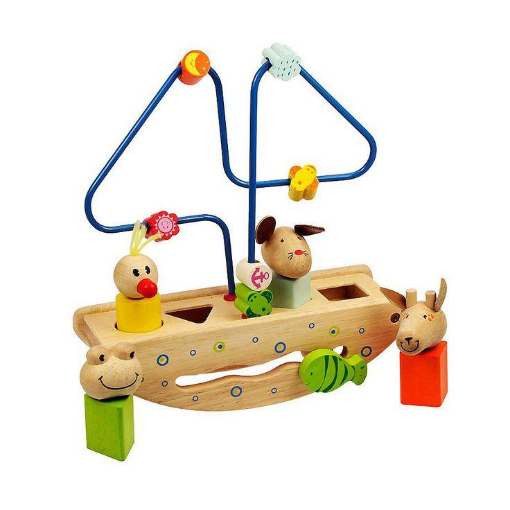 Bigjigs toys, Edukacyjna Łódka ze zwierzątkami.