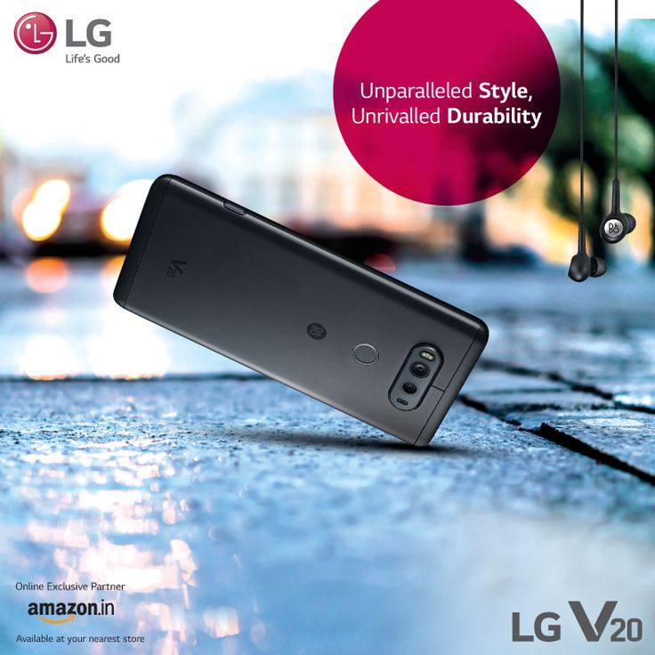 Stand out from the crowd with the #LGV20! The metal body and Si-PC material of the smartphone makes it the most durable yet stylish choice.
