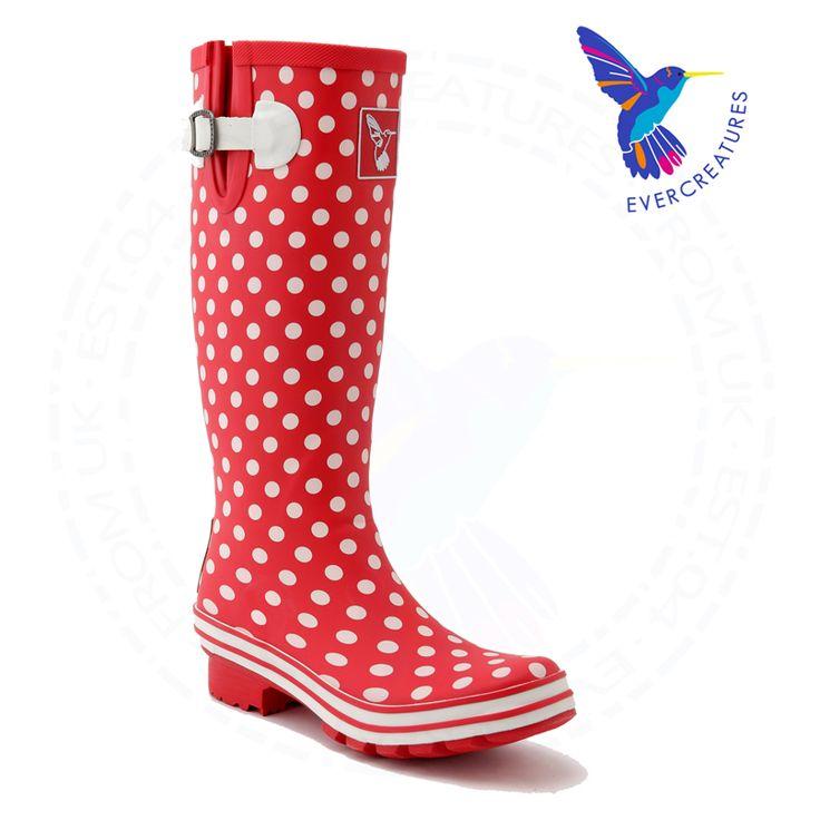 Ms гольфы сапоги красный Резиновая полька точка галоши болотная ботинки моды дождя ботинки свободная перевозка груза