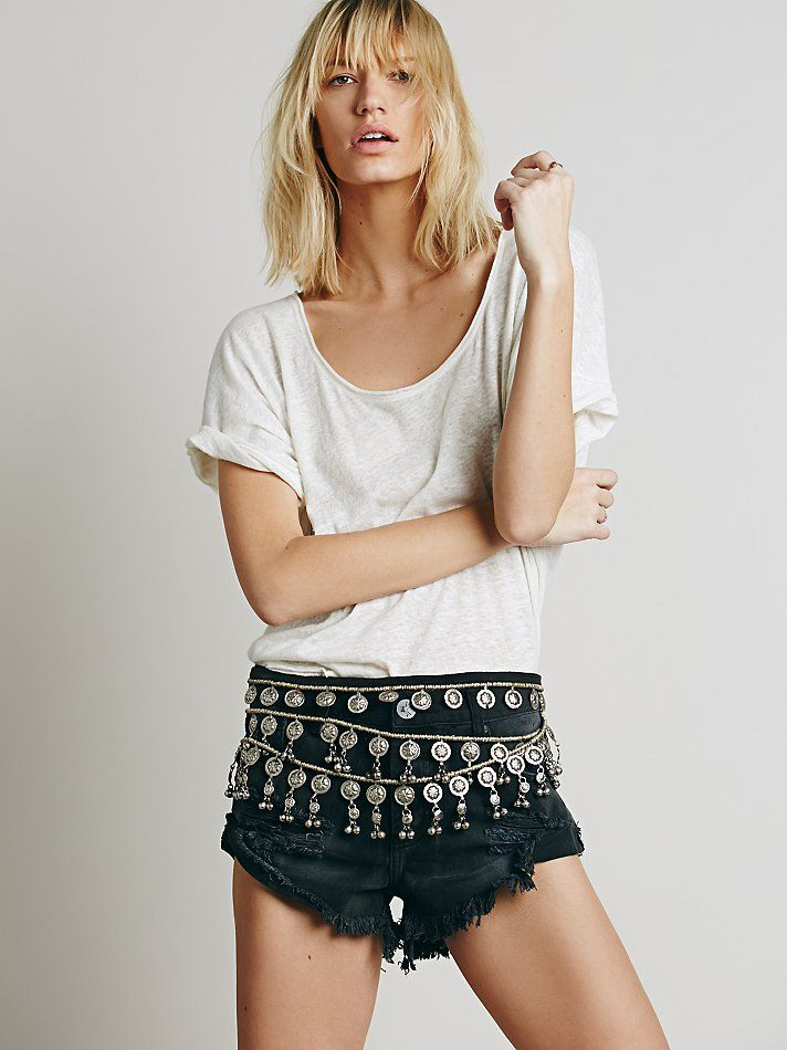 Silk Road Designs Tiered Metal Belt at Free People Clothing Boutique