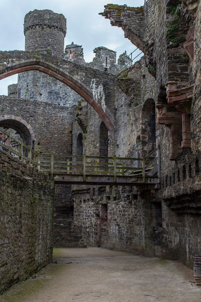 Conwy Castle, Wales.Its hard to believe that people actually lived in them.