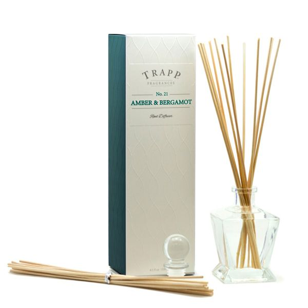 No 21 Amber Bergamot  - 4.5oz Reed Diffuser Kit | Trapp Candles