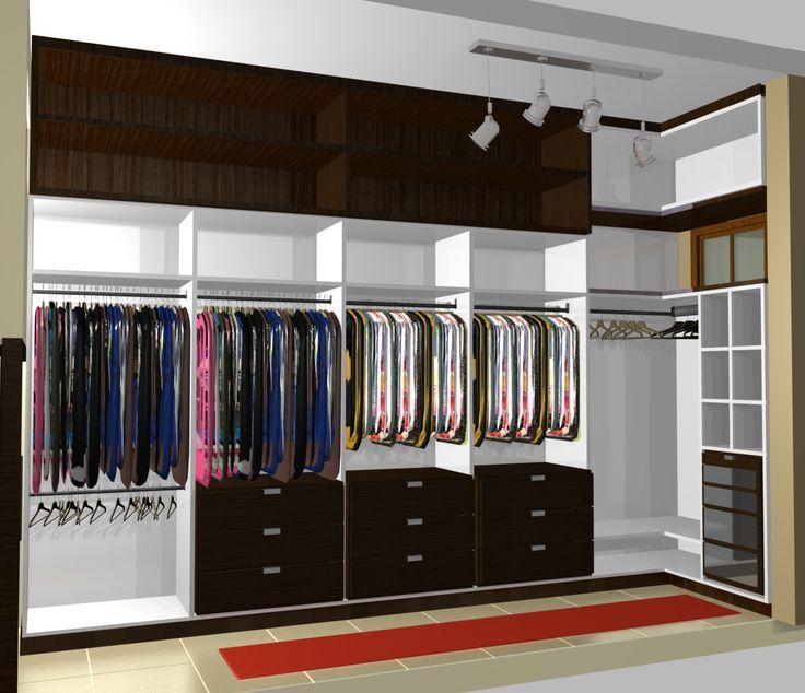 Fotos de móveis planejados para quarto de casal branco e preto