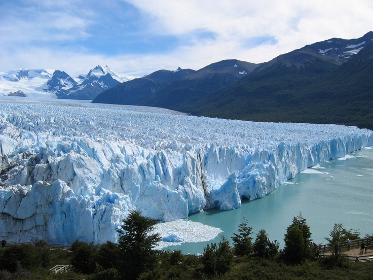 Perito Moreno, one of the biggest tourist attractions in Argentina, is one of the largest glaciers on the Patagonian ice cap.
