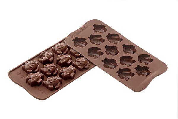 Foremka silikonowa do czekoladek KURCZAKI ZAJĄCZKI SILIKOMART SCG30
