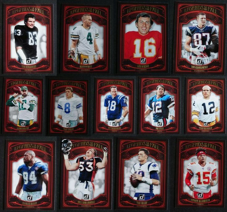 2020 donruss legends of the fall football cards complete