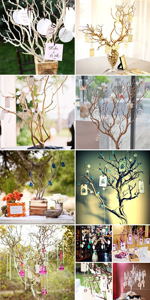 Wishing Tree { DIY Prettiness } organic ideas...fallen branches...garden clearance re-use.....