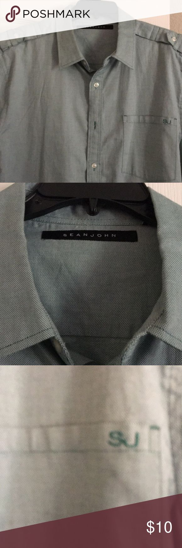 Sean Jean button up shirt Crisp and Clean. Excellent Used Condition Smoke free pet free home Sean John Shirts Casual Button Down Shirts