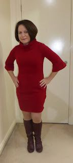 Burda 6964  was a breeze to use for a couple of very quick slips.    The burgundy slip was the test version. I felt more comfortable wearing...