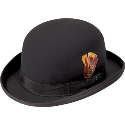 "The Derby is a wool felt hat with a derby crown and a 2 1/8"" roll brim with binding."