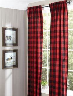 Buffalo Check Lined Panel Curtains