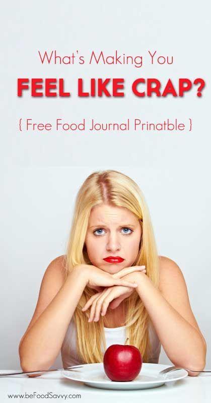 Free Food Journal Printable   www.beFoodSavvy.com