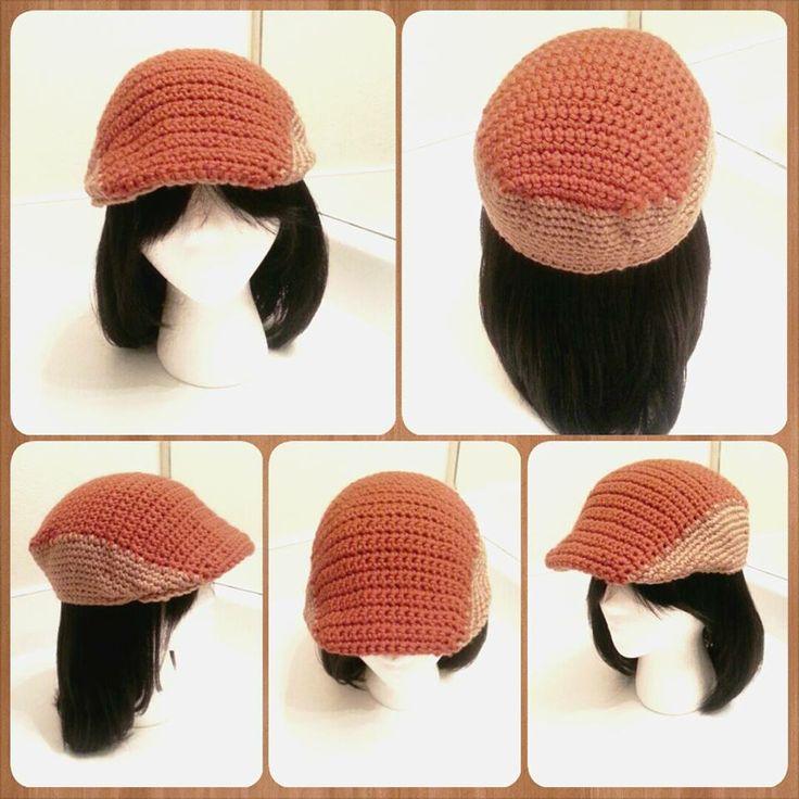 Burnt Orange & Warm Brown Kango Hat