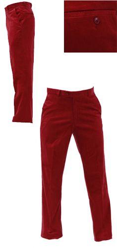 Pantalon de golf Green's en velours rouge