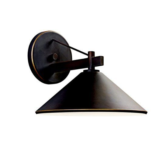Kichler Lighting 49061OZ Ripley Light Outdoor Wall Lamp, Olde Bronze by Kichler. $113.40. From the Manufacturer                The Kichler Lighting 49061OZ Ripley Light Outdoor Wall Lamp delivers clean lines to a rustic look. The wall lamp brings an olde bronze finish that warms the smooth cone shape of the fixture. Whether you are looking for that perfect outdoor wall lamp for your outdoor living space, deck or patio; the sharp crisp lines and architectural s...