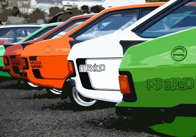 Car Ford Escorts Side Artistic 2