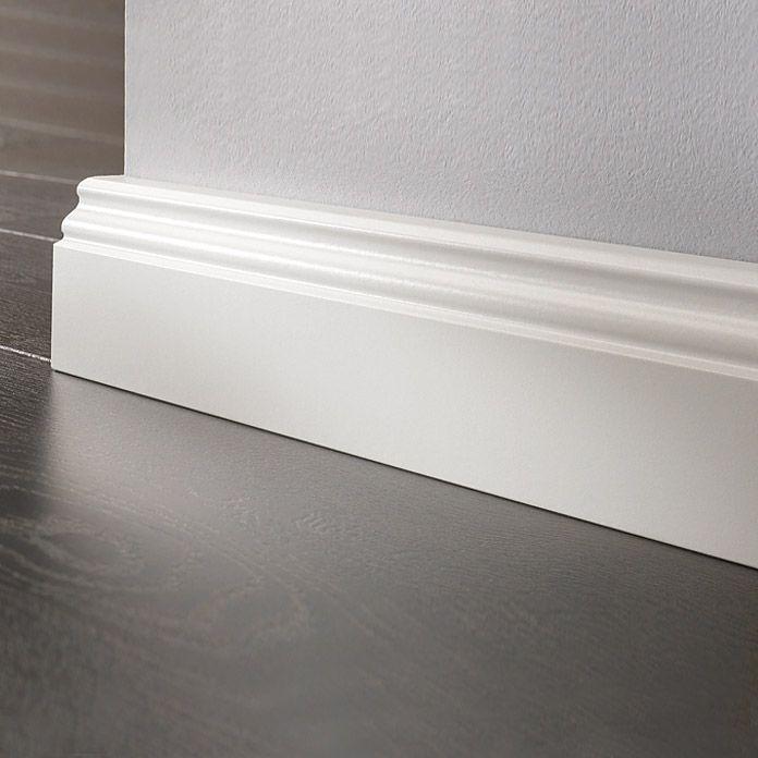 LOGOCLIC Sockelleiste  (Weiß, 2,6 m x 17 mm x 70 mm)