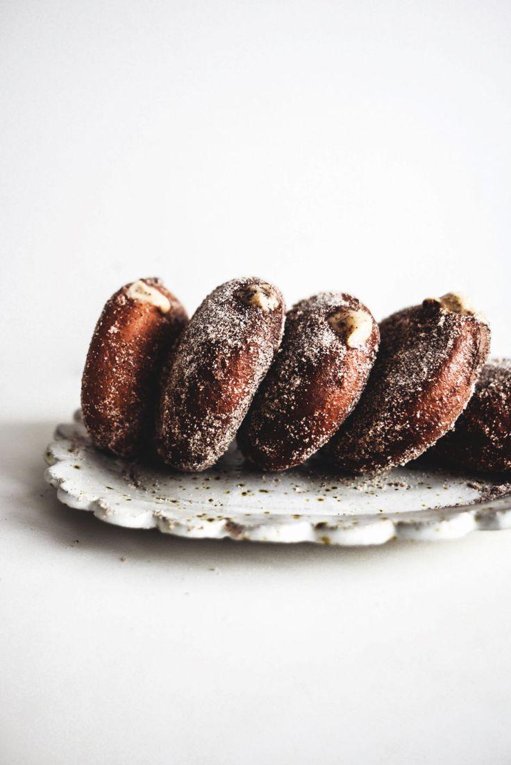 White Chocolate and Tiramisu Doughnuts | Recipe from Butter and Brioche