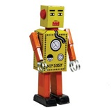 Tin Toy - wind up yellow robot