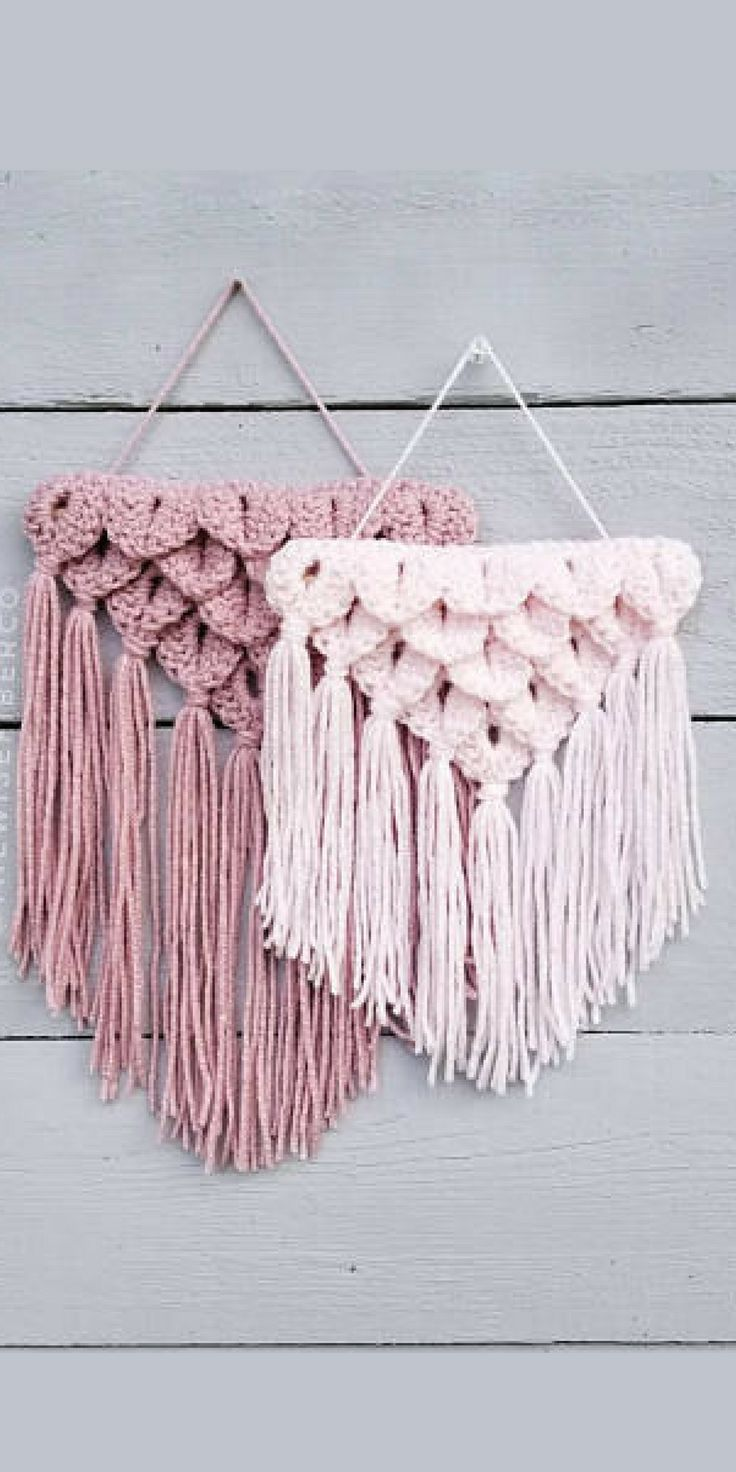Mini Crochet Macrame Wall Hanging afflink