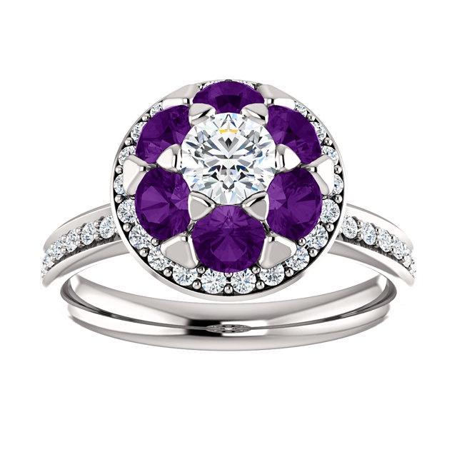 Diamond And Amethyst Citrine Emerald Sapphire