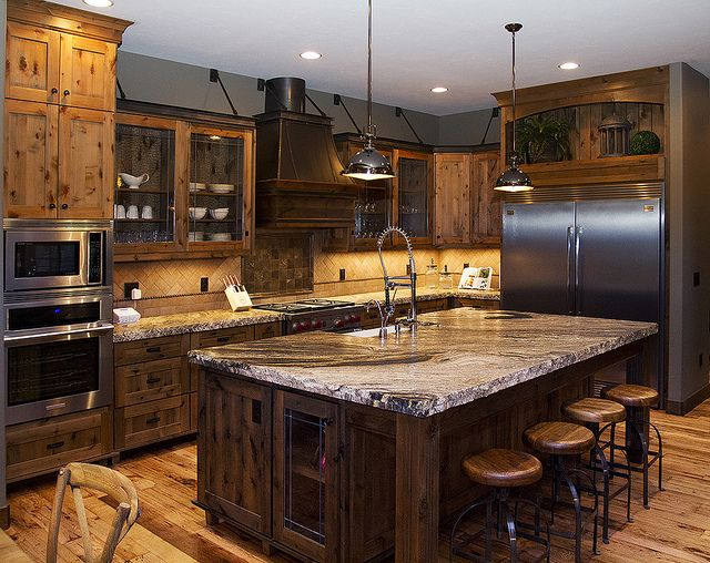 Gourmet kitchen with wolf appliances recent photos the for Gourmet kitchen islands