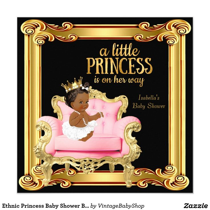 Ethnic Princess Baby Shower Black Pink Gold Chair ...