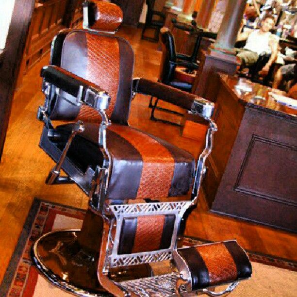 The fine art of Antique Barber Chair Restoration http://hairnewsnetwork.blogspot.com/2012/10/the-fine-art-of-antique-barber-chair.html#