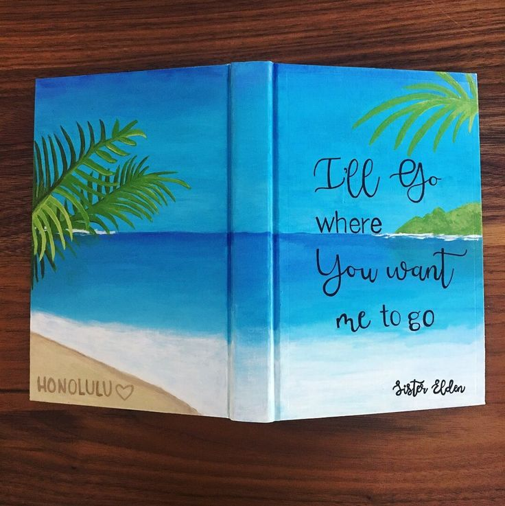 Custom Painted LDS Hymn Book for sister missionary at Worthy Written Words #sistermissionary #ldsmissionary #lds