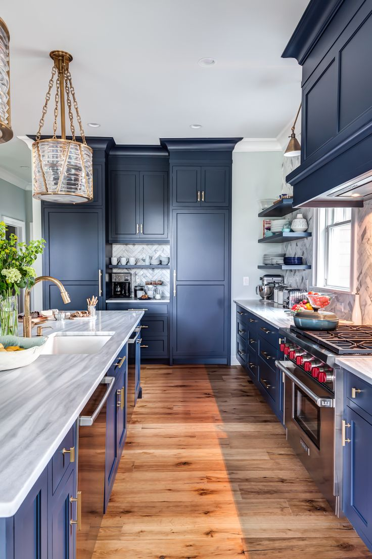 navy kitchen cabinets image by stonington cabinetry designs on blue brass bayhead on kitchen cabinets design id=53564