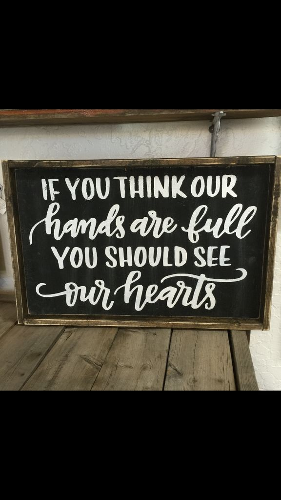 If you think our hands are full