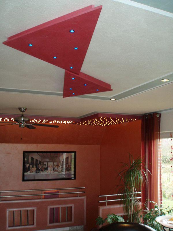Design an der Decke #Spachteltechnik #LED