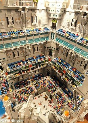 250,000 brick Lego castle takes up 540 sq ft room! (The wife will probably be coming with her wrecking ball soon!)