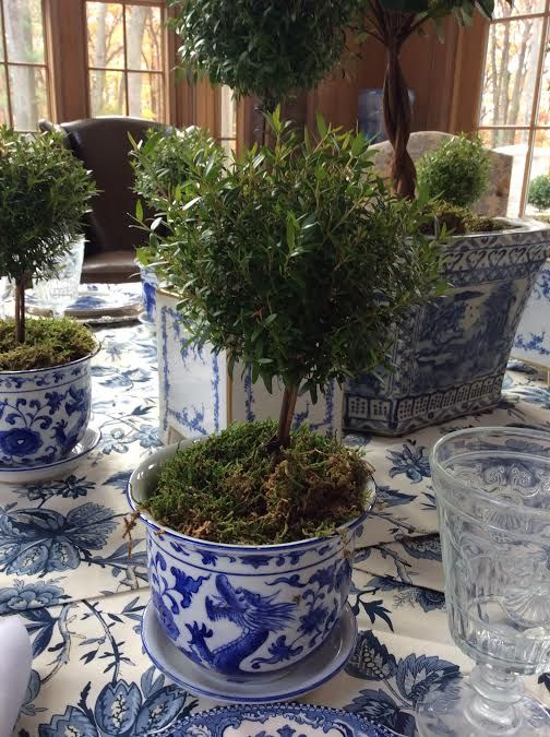 A blue and white birthday luncheon recap - The Enchanted Home