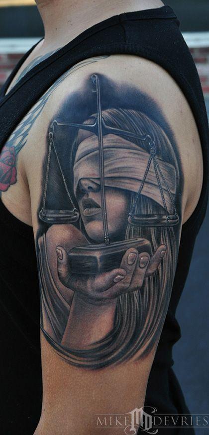 Mike DeVries - Lady Justice Tattoo