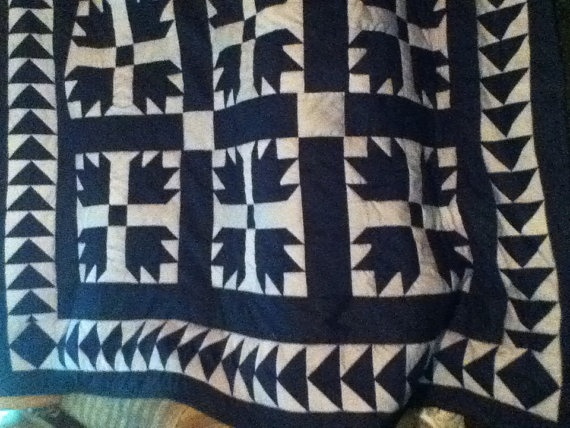 Bear Claw Quilt by cllangston on Etsy, $500.00