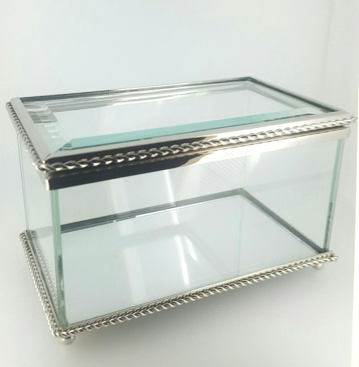 Box - GLASS ANTIQUE STYLE