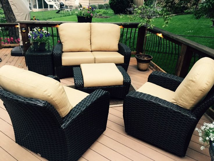 8 best casuwel outdoor furniture accessories images on for Outdoor furniture kansas city