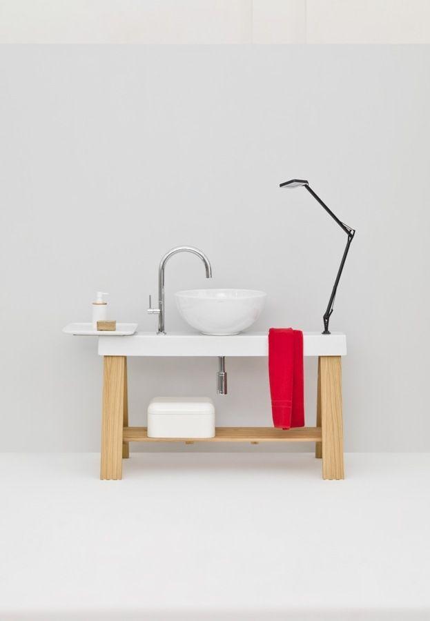 .The.Artceram - Il Cavalletto 120, design Meneghello Paolelli Associati #bathroom #washbasin #furniture
