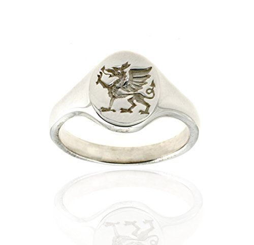 925 Sterling Silver Signet Ring - Welsh Dragon - Size S  Price Β£59.99
