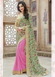 Party Wear Multi Colour Chiffon Printed Saree