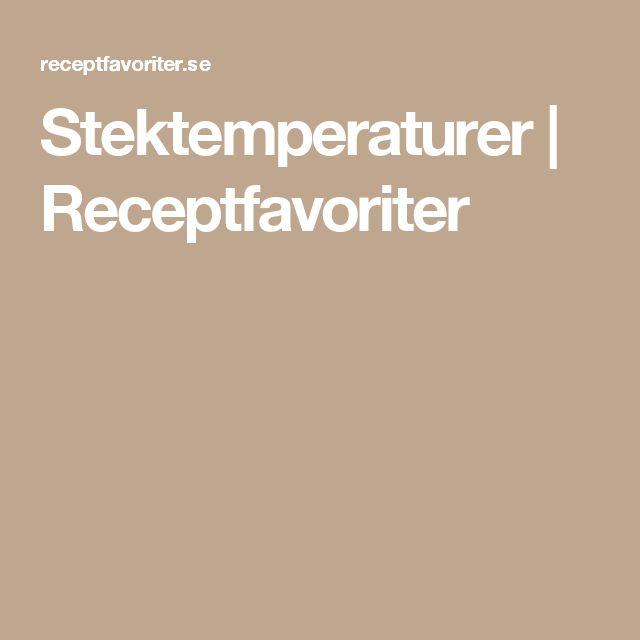 Stektemperaturer | Receptfavoriter