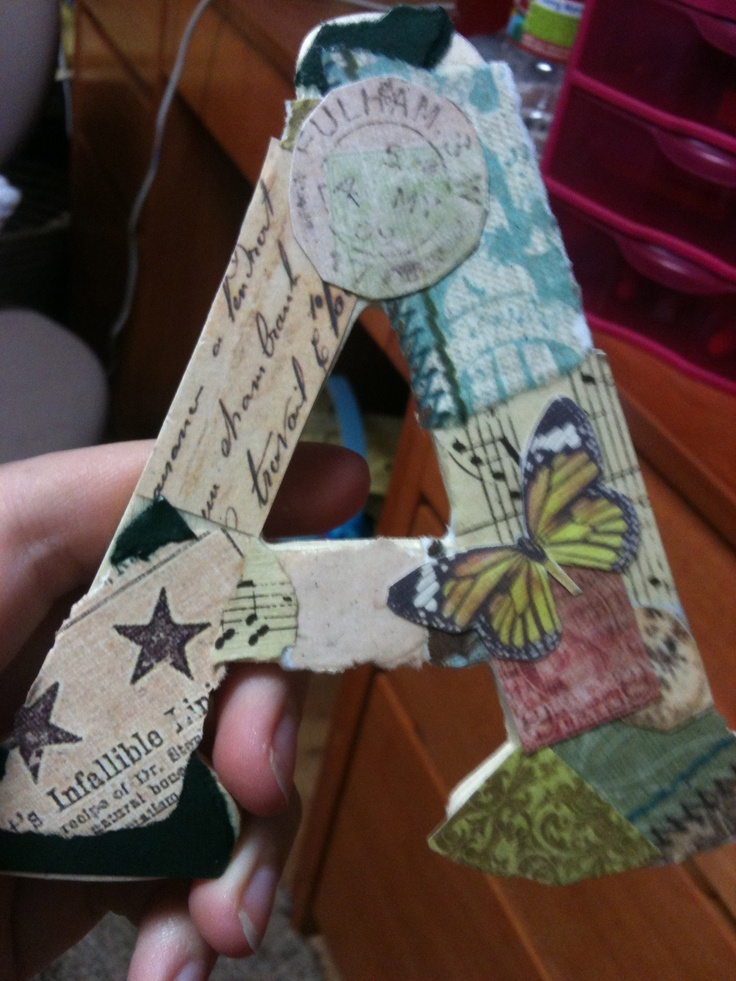 covering paper mache letters with scrapbook paper Cover large paper mache letters from a craft store with sheet music peg mccormick cover wood or paper mache letters with old comic books (or newspapers elizabeth how to use modge podge to adhere scrapbook paper to wooden letters from the craft store.
